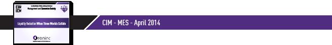 CIM - MES April 2014