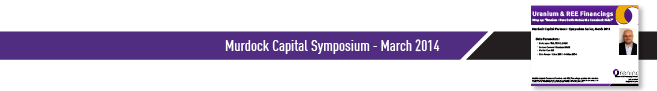 Murdock Capital Symposium March 2014